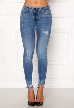 ICHI Lulu Genio Mid Blue Jeans Authentic Mid Blu Bubbleroom.se
