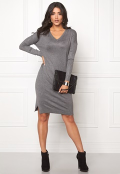 ICHI Mafa Dress Dark Grey Melange Bubbleroom.se