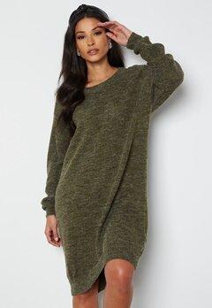 ICHI Novo Knitted Dress 190512 Ivy Green bubbleroom.se