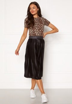 ICHI Pleat Skirt Black Bubbleroom.se