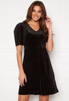 ICHI Rihanna Velvet Glitter Dress Black Bubbleroom.se