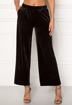 ICHI Velvet Pants Black Bubbleroom.se