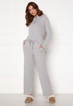 ICHI Yose Trousers Grey Melange Bubbleroom.se