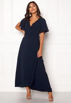 ICHI Zarun Wrap Maxi Dress 14044 Total Eclipse Bubbleroom.se