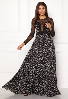 Ida Sjöstedt Alicia Dress Chiffon&Lace Black Bubbleroom.se