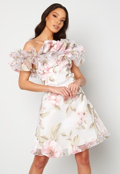 Ida Sjöstedt Arielle Dress White/Pink Bubbleroom.se