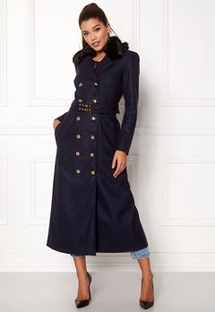 Ida Sjöstedt Jules Coat Navy Bubbleroom.no