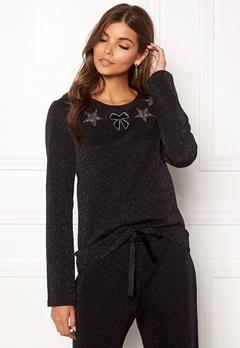 Ida Sjöstedt Magic Sweater Lurex Knit Black Bubbleroom.se