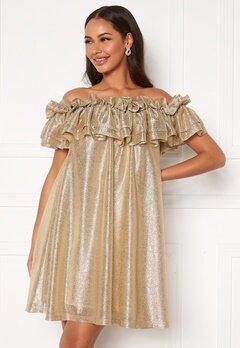 Ida Sjöstedt Siroun Dress Gold Bubbleroom.se