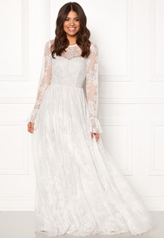 Ida Sjöstedt Statue Dress Soft Lace White Bubbleroom.se