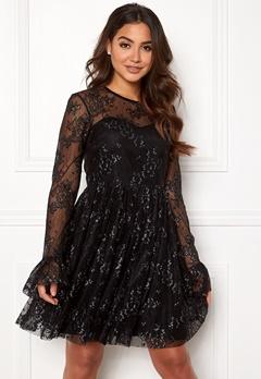 Ida Sjöstedt Tilly Dress Soft Lace Black/Silver Bubbleroom.se