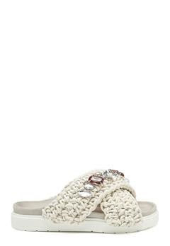 INUIKII Slipper Woven Stones 101 White Bubbleroom.se