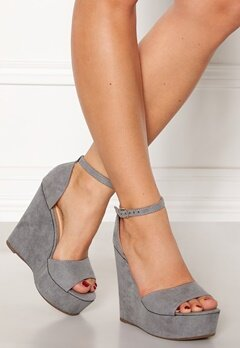 Krush Iso High Heel Sandals Grey Bubbleroom.se