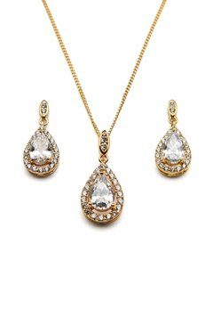 Ivory & Co Belmont Gold Pendant Set Gold Bubbleroom.se