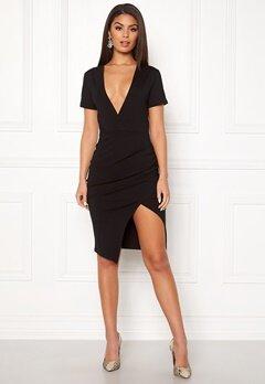 Ivyrevel Deep V-neck Slit Dress Black Bubbleroom.se