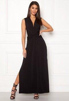 Ivyrevel Drape Front Slit Dress Black Bubbleroom.se