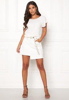 Ivyrevel Raw Edge Denim Skirt White Bubbleroom.se