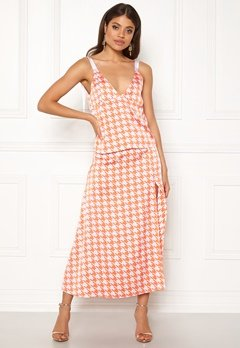 Ivyrevel Split Skirt Orange Pepita Print Bubbleroom.se