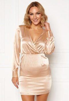 Ivyrevel V Neck Drapy Dress Gold Bubbleroom.se