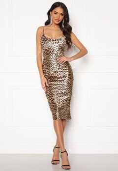 Ivyrevel Velvet Bodycon Dress Black/Brown Leopard Bubbleroom.se
