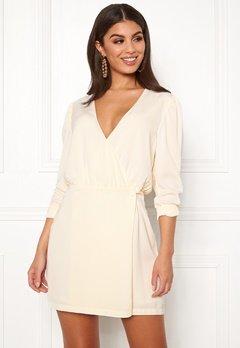 Ivyrevel Woven Wrap Mini Dress Offwhite Bubbleroom.se