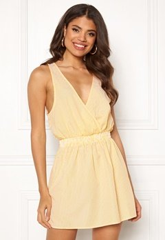 Ivyrevel Wrap Mini Dress Yellow Stripe Bubbleroom.se