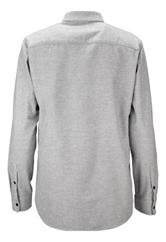 JACK&JONES Lennart Shirt Light Grey Melange Bubbleroom.no