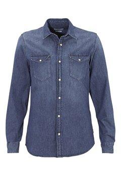 JACK&JONES One Shirt LS Noos Dark Blue Denim Bubbleroom.se