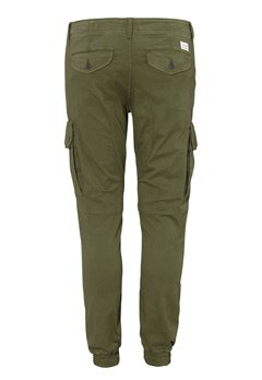 JACK&JONES Paul Warner Trousers Olive Night Bubbleroom.no