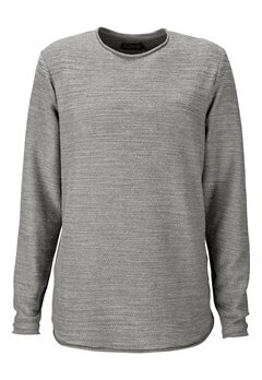 JACK&JONES Raw Sweat Crew Neck Grey Melange Bubbleroom.se