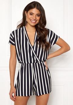 Jacqueline de Yong Alina S/S Playsuit Navy Blazer/Stripes Bubbleroom.se