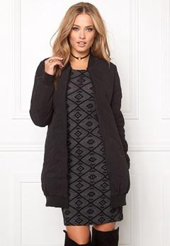 Jacqueline de Yong Alisha quilted coat Black Bubbleroom.fi