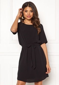 Jacqueline de Yong Amanda 2/4 Belt Dress Black Bubbleroom.se