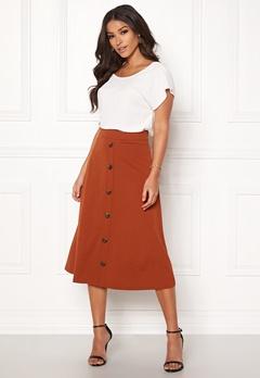 Jacqueline de Yong Bellis Button Skirt Arabian Spice Bubbleroom.se