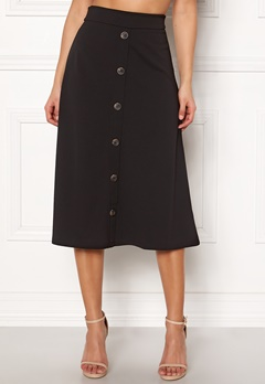 Jacqueline de Yong Bellis Button Skirt Black Bubbleroom.se