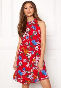 Jacqueline de Yong Chili S/L Dress High Risk Red Bubbleroom.se