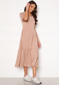 Jacqueline de Yong Dalila Frosty S/S Dress Adobe Rose Bubbleroom.se