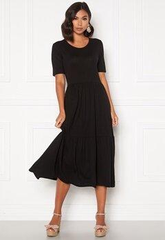 Jacqueline de Yong Dalila Frosty S/S Dress Black Bubbleroom.se