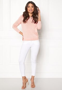 Jacqueline de Yong Dara L/S Pullover Cameo Rose Bubbleroom.se