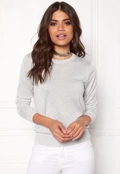 Jacqueline de Yong Dara L/S Pullover White Bubbleroom.fi