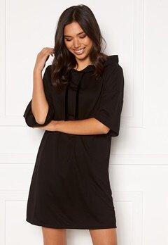 Jacqueline de Yong Dawn 3/4 Hood Sweat Dress Black Bubbleroom.se