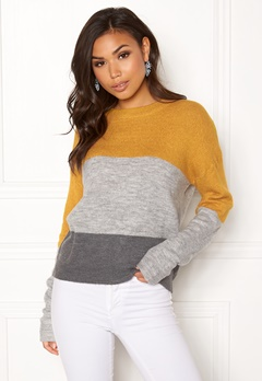 Jacqueline de Yong Elanor L/S Pullover Cloud Dancer Bubbleroom.se