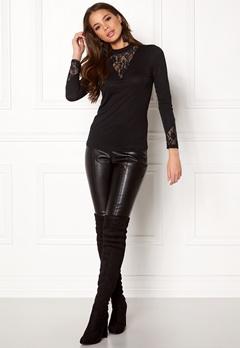 Jacqueline de Yong Fabia L/S Lace Top Black Bubbleroom.dk