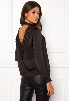 Jacqueline de Yong Fibola L/S Lace Top Black Bubbleroom.se