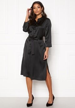 Jacqueline de Yong Fifi 3/4 Below Knee Dress Black Bubbleroom.se