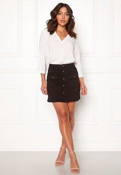 Jacqueline de Yong Five Button Skirt Black Bubbleroom.se