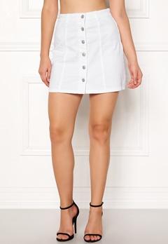 Jacqueline de Yong Five Button Skirt White Bubbleroom.se