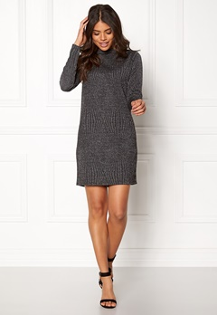 Jacqueline de Yong Gentile L/S Dress Black Silver Bubbleroom.fi