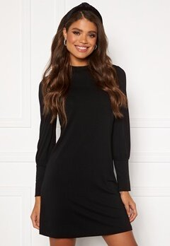 Jacqueline de Yong Giovani L/S Dress Black Bubbleroom.se