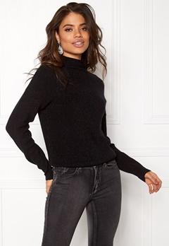 Jacqueline de Yong Julia L/S Pullover Black Bubbleroom.se
